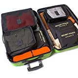 【福美康】 トラベル ポーチ 6点 セット パッキング キューブ オーガナイザー 旅行 出張 整理整頓 アレンジケース スーツケース インナー バッグ パック (ブラック)