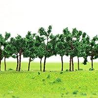 情景コレクション 樹木 モデルツリー ツリー模型 35mm 1:25~1:300 N ゲージ用 100本 風景 箱庭 鉄道模型 建物模型 ジオラマ 教育 DIY