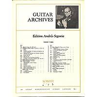 [冊子][楽譜]GUITAR ARCHIVES Andres Segovia No.125 Manuel M. Ponce PRELUDES 7-12 アンドレス・セゴビア