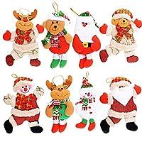 8個入 クリスマスツリー オーナメント 人形 壁掛け 玄関飾り 立体感 雪だるま サンタクロース 熊 クリスマス雰囲気満載