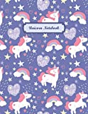 Magical Unicorn #04, Unicorn Wide Ruled Journal Notebook for kids girls, Journal for Girls Ages 7-12: Wide Lined Journal for Elementary School Kids, Notebook for school, 8.5
