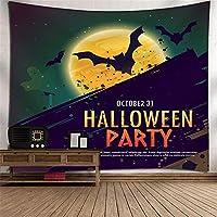 ハロウィンのバットのタペストリー3Dデジタル印刷壁画のポリエステル壁掛けテレビの背景壁の家具寝室の居間タペストリーピクニックブランケット壁掛けアート壁の装飾 (Color : 002)