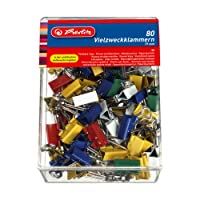 Herlitz 19mm Fold Back Clips (80 Pieces)