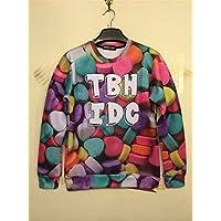 Unisex 3D Print Galaxy Animal hipster sweater sweatshirt Pullover(TBH IDC)