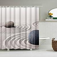 TXXM® クイックとストーンパターンシャワーカーテン防水と速乾性環境保護材料金属のボタンホールメタルフックシャワーカーテン (サイズ さいず : 150*180cm)