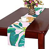 LKCDNG テーブルランナー 美しい花 アニメーション動物 クロス 食卓カバー 麻綿製 欧米 おしゃれ 16 Inch X 72 Inch (40cm X 182cm) キッチン ダイニング ホーム デコレーション モダン リビング 洗える