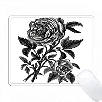 Vintage Black Roseのプリント PC Mouse Pad パソコン マウスパッド
