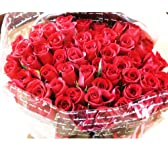fleurcocoオリジナル 深紅の 赤バラ花束60本 おしゃれなギフトラッピングでお届け 【還暦祝いプレゼント 誕生日プレゼント 結婚記念日 結婚祝い プロポーズ 退職祝い 敬老の日 花 お祝い】