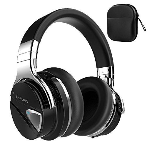 Dylan Bluetooth ヘッドホン 高音質 Hi-Fi アクティブノイズキャンセル機能搭載 最大20時間連続再生 NFC搭載 柔らかい大型イヤーパッド 密閉型 ワイヤレス ヘッドホン オーバーイヤー ブラック QS1