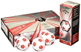 (White/Red Truvis Pattern) - Callaway 2017 Chrome Soft X Golf Balls