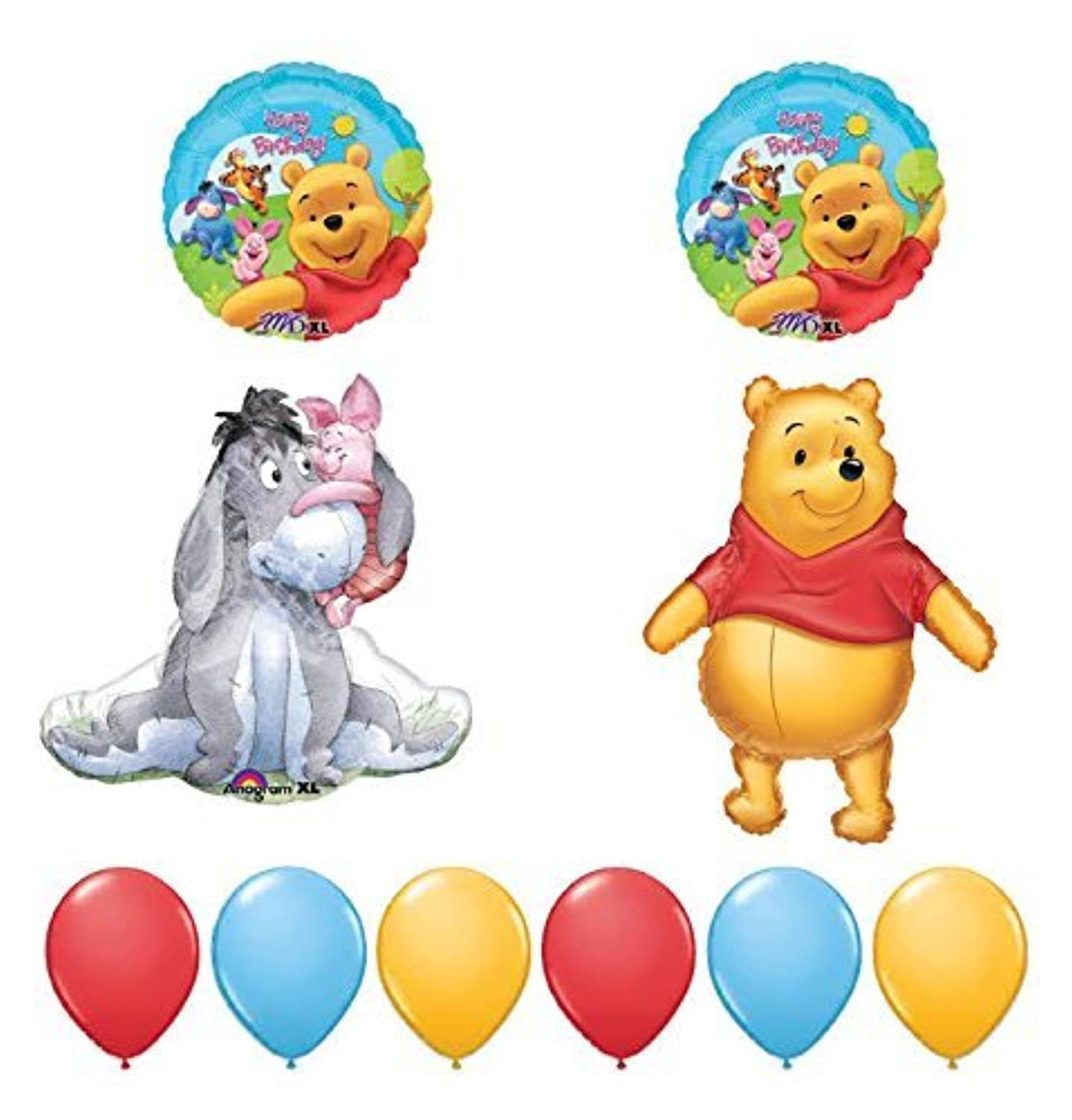 Winnie the Pooh and Friends 10pc誕生日パーティーバルーンデコレーションby Anagram