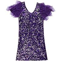 e7e1b11a6071f 福美康(FUMEIKANG) スパンコール ドレス ワンピース ダンス パーティ ダンサー 舞台 衣装 半袖 ミユージカル ステージ