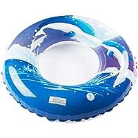 KIZOKU(キゾク) 浮き輪 フロート ブルー 90cm イルカ うきわ