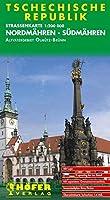 Hoefer Tschechische Republik CS006. Nordmaehren - Suedmaehren 1 : 200 000. Strassenkarte: mir separatem Ortsverzeichnis