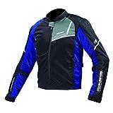 コミネ KOMINE バイク プロテクトフル メッシュ ジャケット アウター ジモン プロテクター 通気性 Black/Blue L 07-117 JK-117