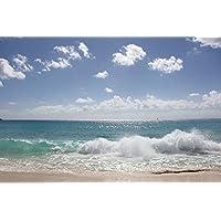 晴れた日の波 - #12794 - キャンバス印刷アートポスター 写真 部屋インテリア絵画 ポスター 50cmx33cm