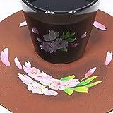 遊生活・竜玉堂 グラスに花咲く イリュージョンコースター桜・グラスセット プレゼント 布製