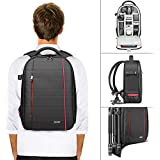 Neewer Professional Camera Case Backpack Bag-Waterproof Shockproof 16.5x11x5.5 inches with Tripod Holder and External Pocket for DSLR, Mirrorless Camera, Flash or Other Accessories (Gray Interior)
