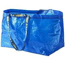Large Volume ~ IKEA Tote Bags~ Set of (5) (Renewed) Set of 5 Blue