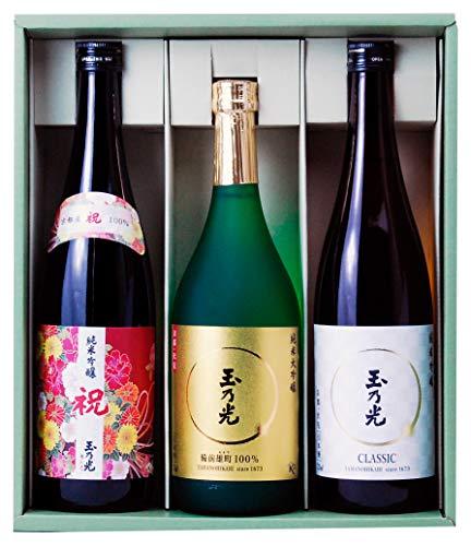 玉乃光 人気の純米大吟醸 純米吟醸 飲み比べセットTG-3B 京都 伏見 日本酒