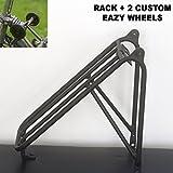 BROMPTON + 2イージーホイール用軽量リアラックBLACK EDITION Lightweight Rear Rack For BROMPTON + 2 Easy Wheels