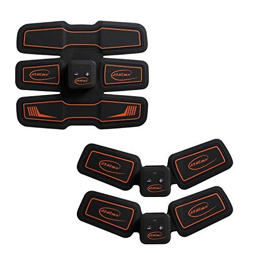 ホメメ EMS腹筋ベルト 腹筋トレーニング Abs Fit(アブズフィット) 15段階調節 6モード 男女兼用 USB充電式 シックスパッド(Abs Fit*1;Body Fit*2)セット