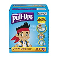 Pull-Ups Training Pants with Learning Designs for Boys, 4T-5T, 56 Count (Packaging May Vary) by Pull-Ups