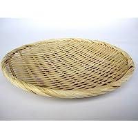 お蕎麦や鍋に 竹製 盆ざる 24cm 竹ざる 盆ザル 水切りざる 水切りザル