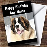 ST BERNARD DOG Personalized Birthday Greetingsカード