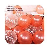 バルーンウェディングBollons | クリアスターピンクブルーバルーン内バルーン結婚式の装飾の風船ベビーシャワーの誕生日パーティーホームXN、スタイル9用品12インチ20枚