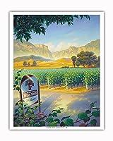 マデラ・ヴィンヤード・ワイン・トレイル - カリフォルニアワインカントリーアート によって作成された カーン・エリクソン - アートポスター - 41cm x 51cm