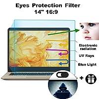 MUBUY 14インチ ノートパソコンスクリーン用目保護プロテクターフィルター 2個パック 14インチ アンチブルーライト&グレアスクリーンプロテクター 眼精疲労軽減 より良い睡眠を (344×194)