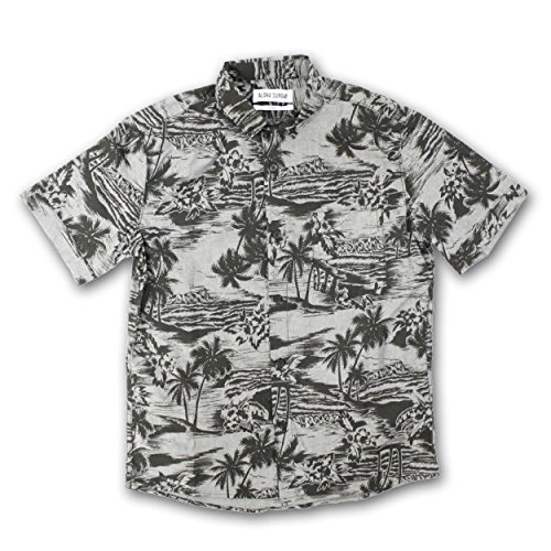 アロハサンデー HIDEAWAYS [ Charcoal with Black Print ]