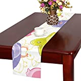 GGSXD テーブルランナー きれいなひよこ クロス 食卓カバー 麻綿製 欧米 おしゃれ 16 Inch X 72 Inch (40cm X 182cm) キッチン ダイニング ホーム デコレーション モダン リビング 洗える