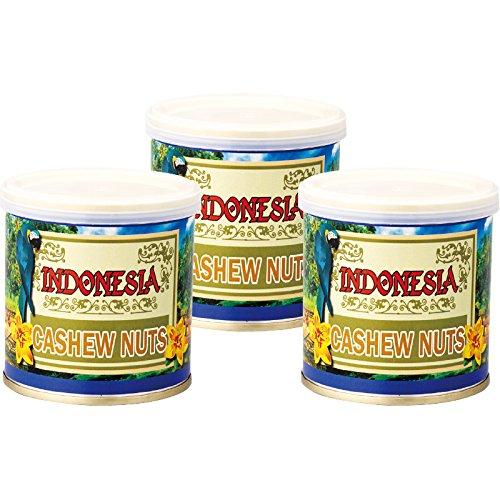 インドネシア 土産 インドネシア カシューナッツ 3缶セット (海外旅行 インドネシア お土産)