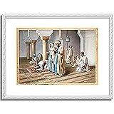Bartolini, Frederico「Arabs At Prayer. 1884 」 インテリア アート 絵画 プリント 額装作品 フレーム:装飾(白) サイズ:XL (563mm X 745mm)