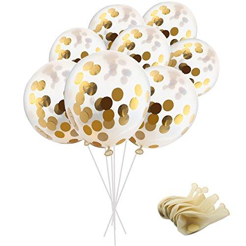 [해외]골든 입력 색종이 풍선 5 개 세트 INS 12 인치 파티 풍선 황금 종이 색종이 점 (색종이 풍선 안에 넣고있다) 생일 | 축제 | 크리스마스 | 프로포즈 | 웨딩 장식 파티 분위기/Golden Incidents Confetti Snow Balloon 5 pieces INS 12 inch party bal...