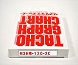 小芝記録紙 ( KOSHIBA ) チャート紙 【3日用】 120Km/h(赤ライン) 10組入リ KM-3-120-2C