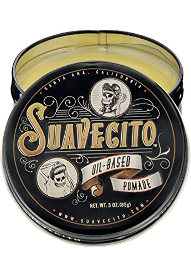 衣類中間カリキュラムSUAVECITO (スアベシート) OIL BASED POMADE ポマード 油性 男性用 ミディアムホールド ツヤあり トニック系の爽やかな香り 約85グラム/3オンス