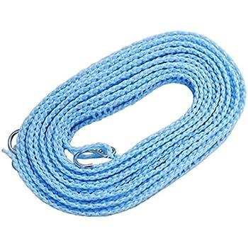 ハンガーを掛けられるスリット付 洗濯ロープ ハンガーストップ 5m 88055