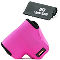 MegaGear ''Ultra Light'' Neoprene Camera Case Bag for Olympus OM-D E-M1 with 12-40mm (Hotpink) [並行輸入品]