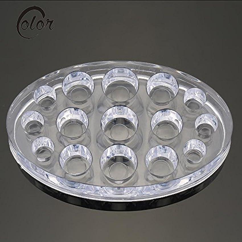 薄暗いボタン哲学者Dagly(TM) 透明なアクリル顔料のカップホルダー入れ墨インクカップはタトゥーアクセサリーサプライラック15個の穴色常設カップキャップスタンド