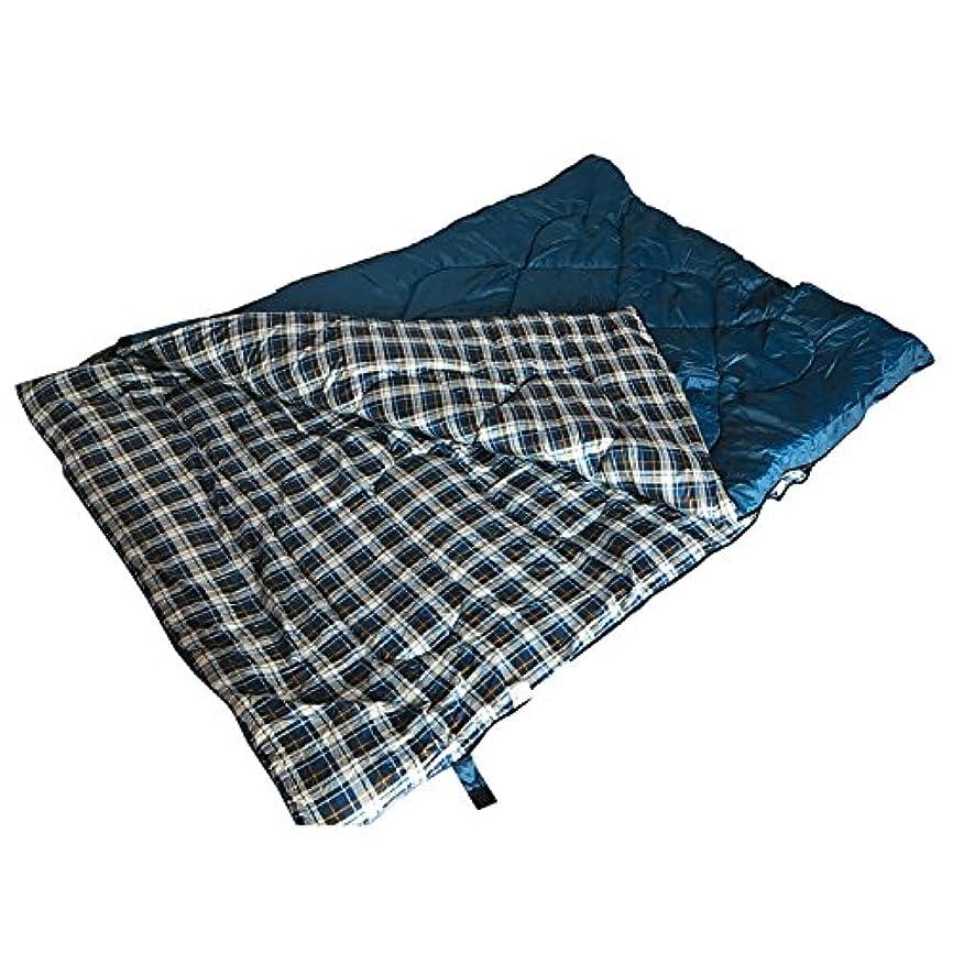 大腿比喩保有者雑貨の国のアリス 寝袋 シュラフ スリーピングバッグ 2人用 ダブルサイズ 封筒型 ブルー 表裏分離可能 収納袋付き [並行輸入品]
