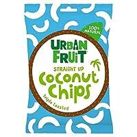 (Urban Fruit (都市のフルーツ)) まっすぐ25グラムまでのココナッツチップス (x6) - Urban Fruit Coconut Chips Straight Up 25g (Pack of 6) [並行輸入品]