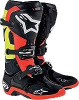 Alpinestars アルパインスターズ  2014年 Tech 10 テック10 オフロード ブーツ 黒赤イエロー/US13 (約31.5cm)