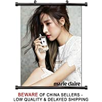 Kim so-eun韓国女優ファブリック壁スクロールポスター( 32 x 40 )インチ