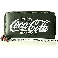 [コカ・コーラ]財布 ウォレット サイフ 刺繍 合皮 合成皮革 ロゴ コカコーラ コーラ レディース メンズ ユニセックス かわいい おしゃれ シンプル 通学 日常 学生 旅行 大人