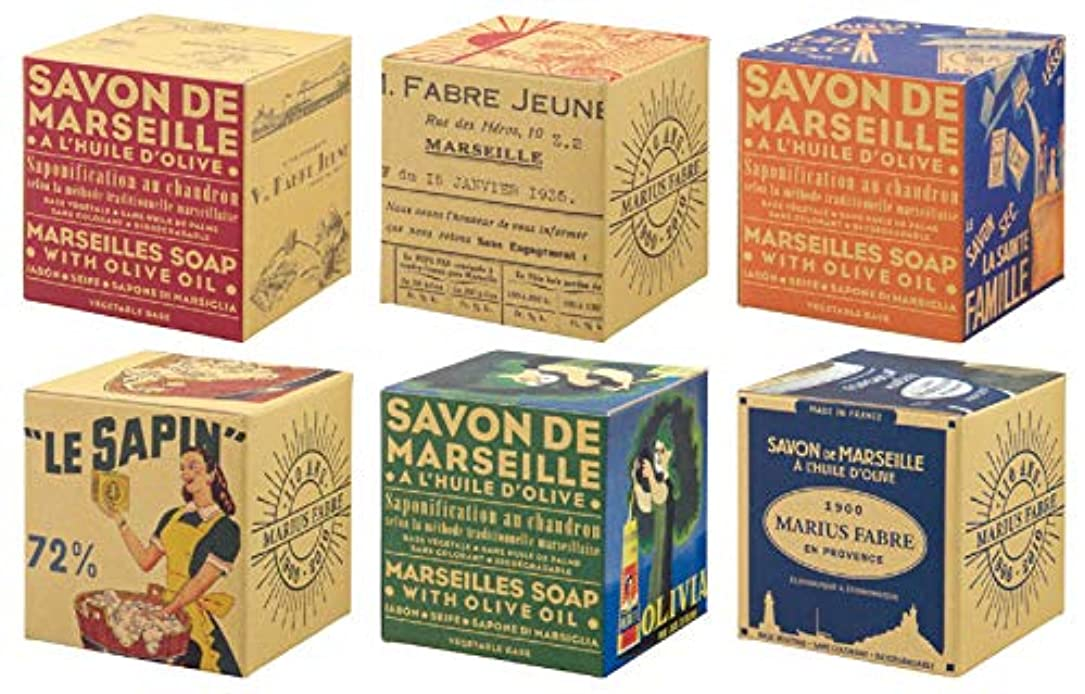 概念援助引っ張るサボンドマルセイユ BOX オリーブ 200g (箱の柄のご指定はできません)