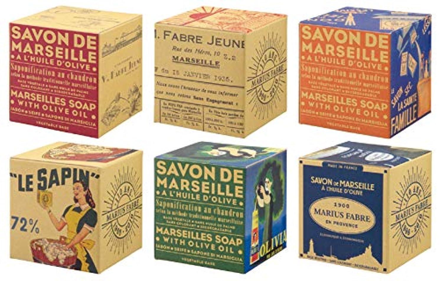 仕事に行く人質サワーサボンドマルセイユ BOX オリーブ 200g (箱の柄のご指定はできません)