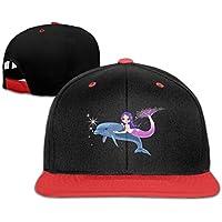 イルカと人魚 かわいい ヒップホップ ハット スポーツ 野球帽 日焼け止め キャップ 子ども 帽子